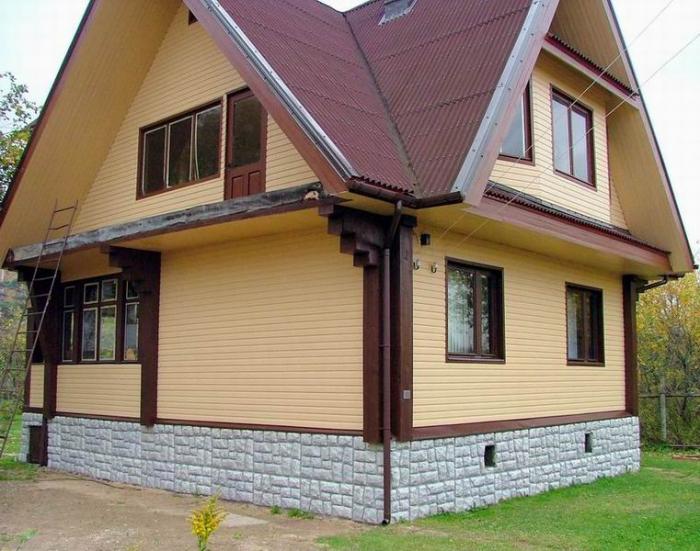 Фото: Отделка фундамента дома своими руками