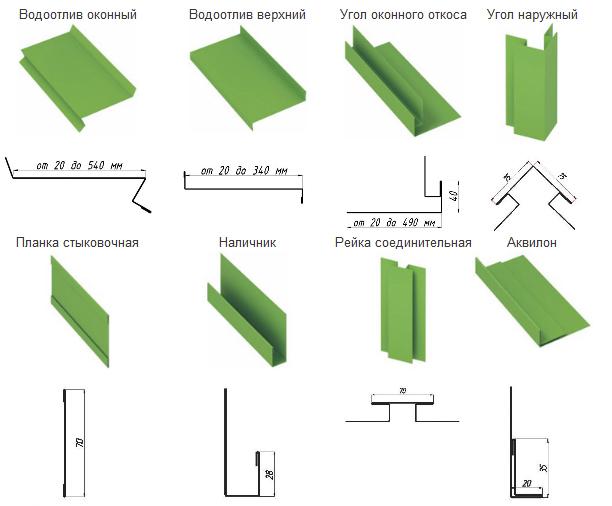 Фото: Различные компоненты для сайдинга