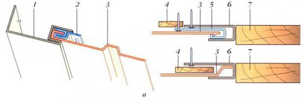 Фото: Общая схема стыков с угловым профилем