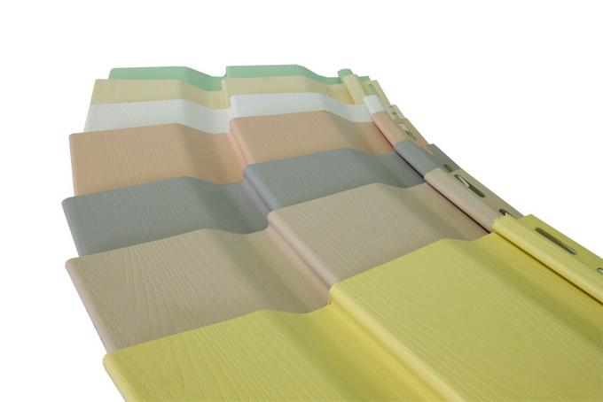 Фото: Виниловый сайдинг в различных цветовых вариантах