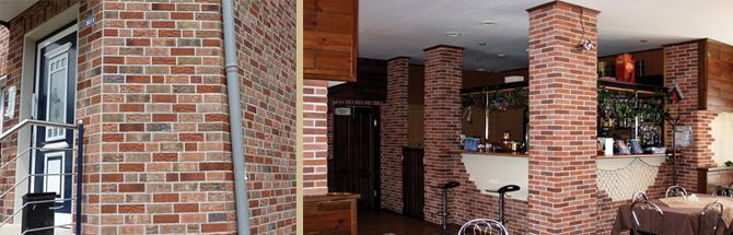 Фото: Использование материала для отделки внутренних помещений и фасада
