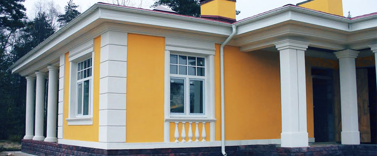 Фото: Полимербетонные элементы для фасада
