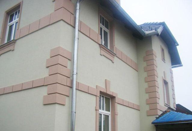 Фото: Полистироловая отделка фасада