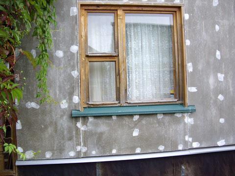 Фото: Крепление цементно-стружечной плиты на обрешетку