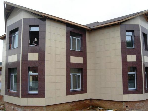 Фото: Керамогранитная плитка для фасада