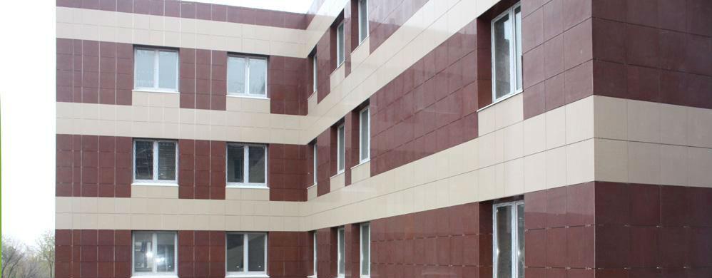Фото: Фасадная система с применением фиброцементных плит