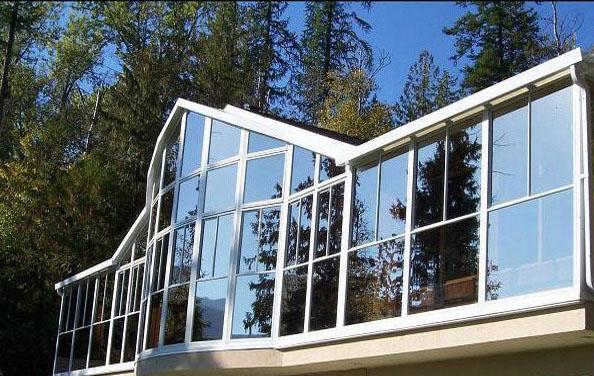 Фото: Стеклянные фасады для частных домов