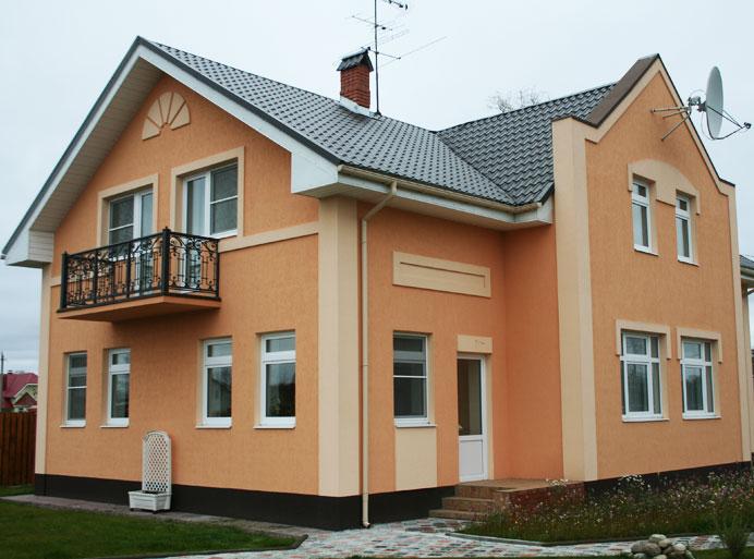 Фото: Сочетание двух цветов на поверхности фасада
