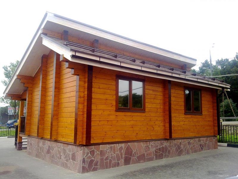 Фото: Деревянный фасад, окрашенный пропиткой от фирмы Caparol