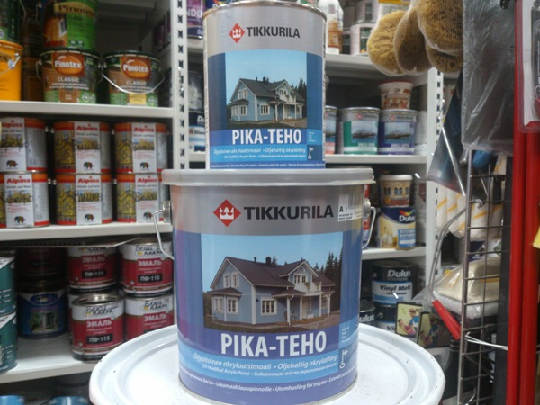 Фото: Фасадная краска Tikkurila для дерева