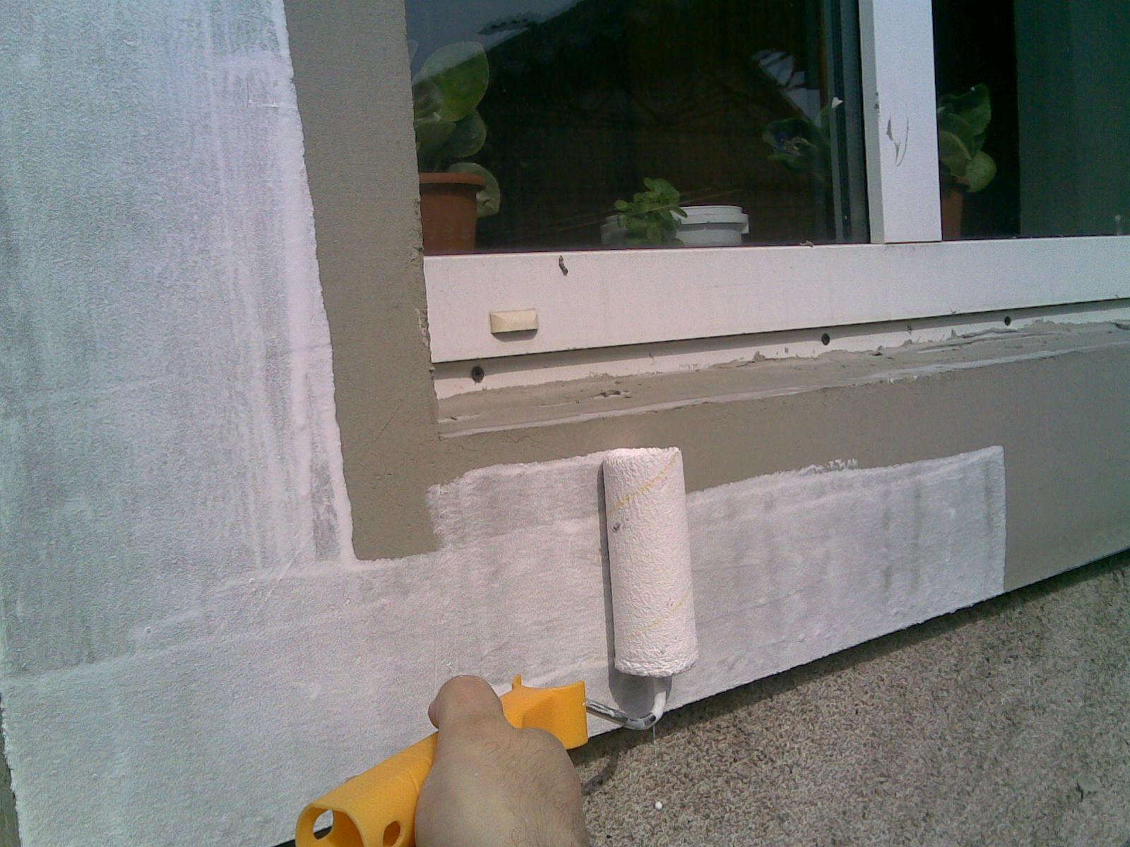Фото: Армирование фасадной краской
