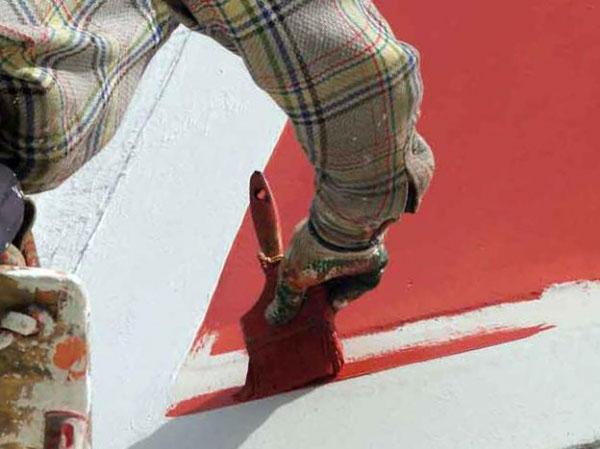 Фото: Покраска дома фасадной краской
