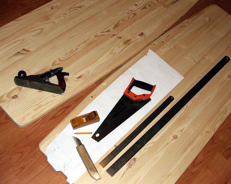 Фото: Изготовление ступеней из строганной доски