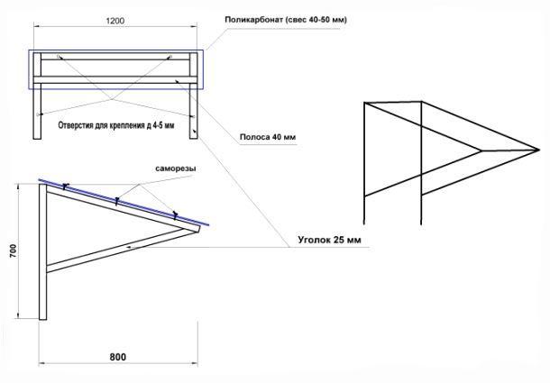 Фото: Общая схема устройства каркаса односкатной формы