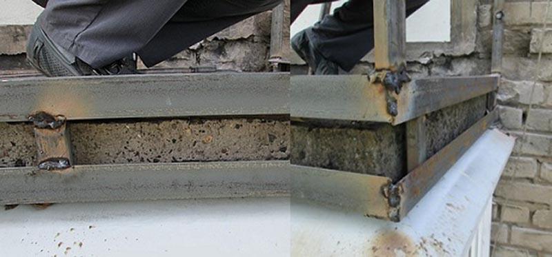 Фото: Несущий каркас из металлического уголка