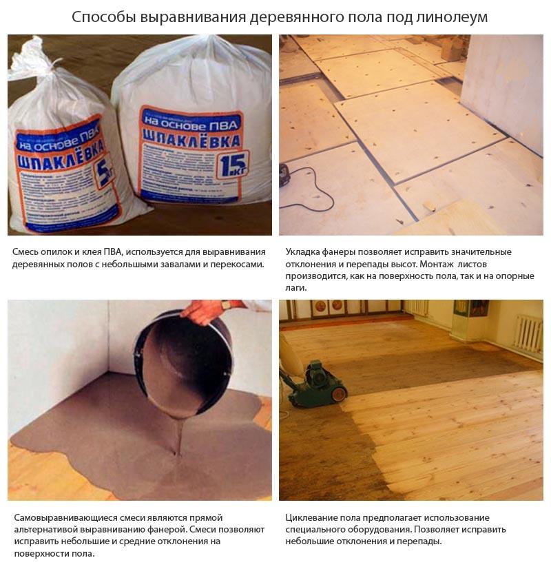 Фото: Популярные способы устранения неровностей деревянных оснований