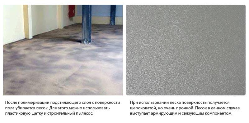 Фото: Использование кварцевого песка позволяется укрепить смесь после застывания