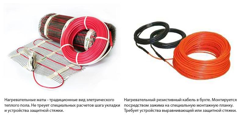 Фото: Общая информация о матах и резистивном кабеле