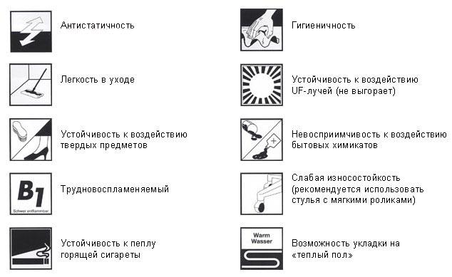 Фото: Значки указывающие на наличие определенных свойств и качеств