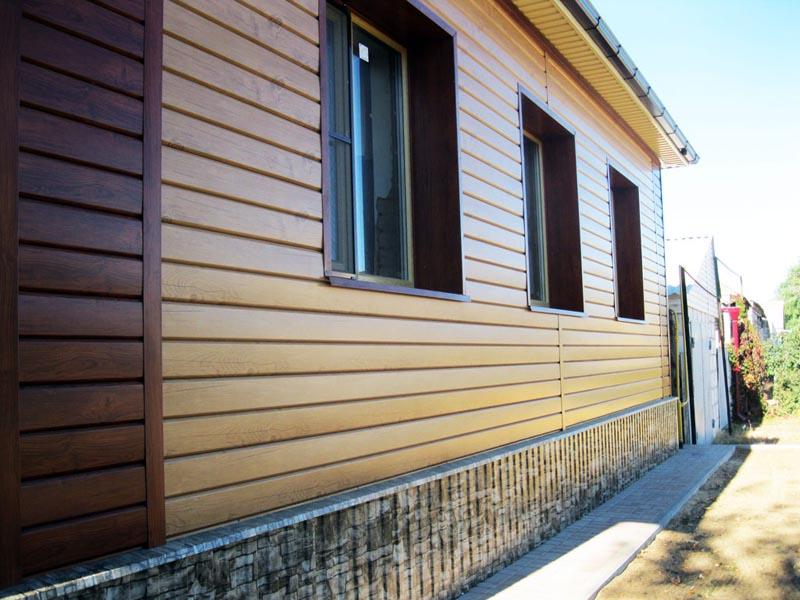Фото: Стальной сайдинг как отделка деревянного дома