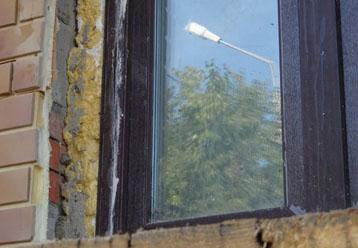 Отделка откосов окна снаружи