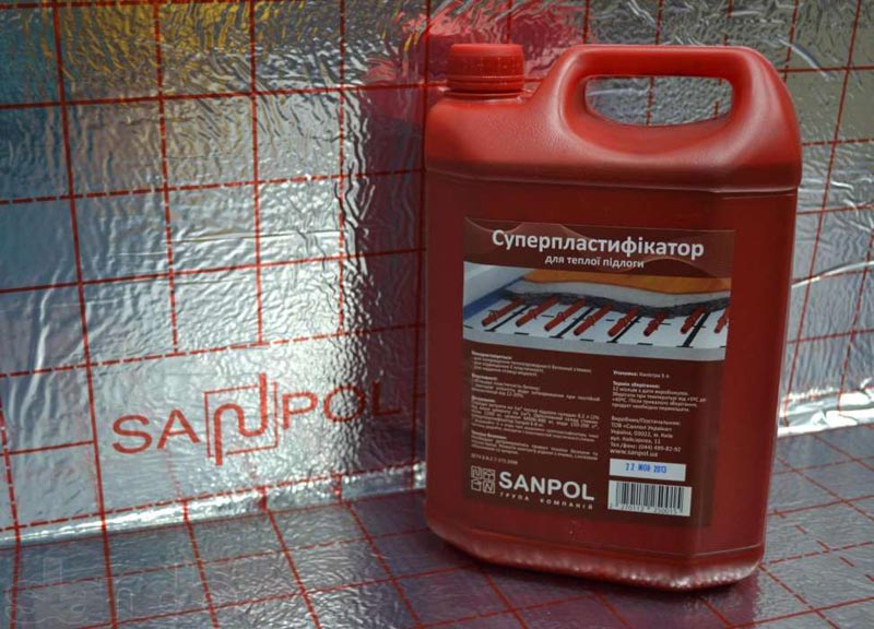 Фото: Пластификатор Sanpol украинского производства