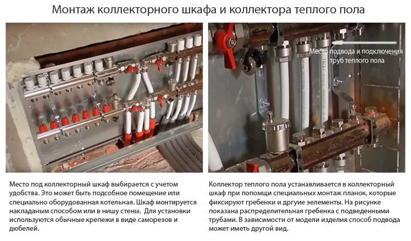 Фото: Монтаж коллекторного шкафа и распределительного узла