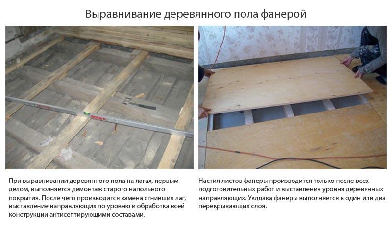 Фото: Листы фанеры можно уложить и на бетонный пол