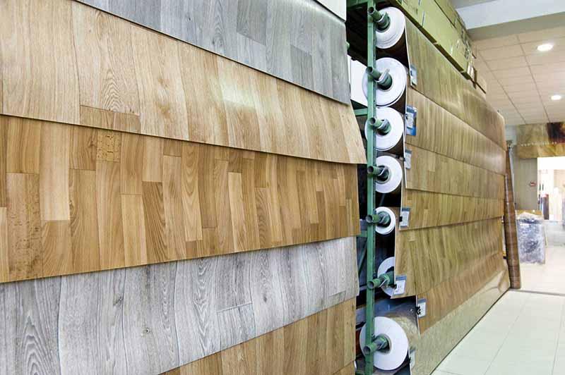 Фото: Рулонные покрытия не обладают богатым спектром рисунков