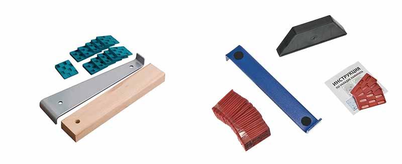 Фото: Деревянный брусок и клинья нужны для укладки покрытия