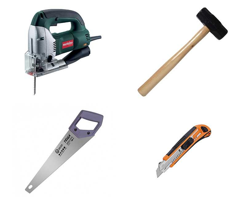 Фото: Электрический и ручной инструмент для монтажа ламинированного покрытия