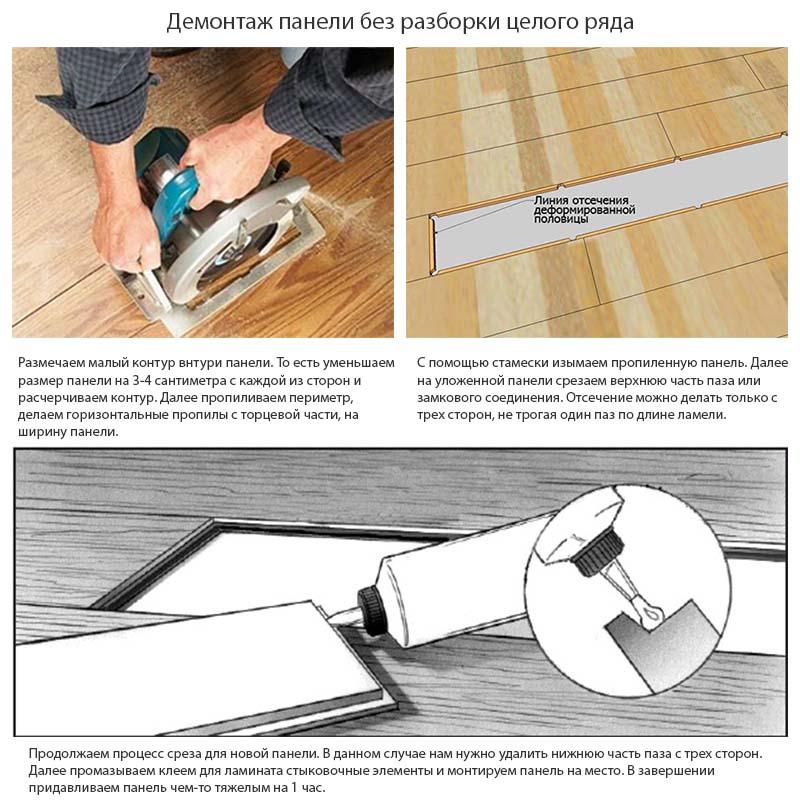 Фото: Процесс замени ламината в картинках