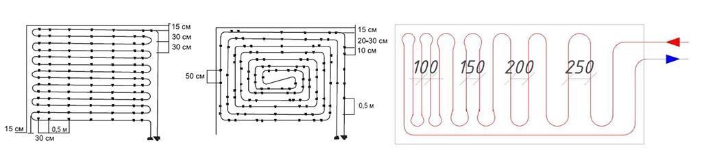 Фото: Расстояние между нагревательными элементами влияет на температуру пола
