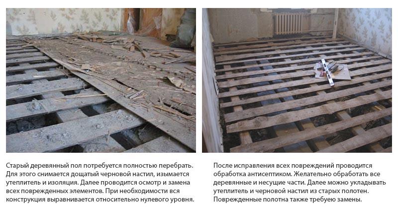 Фото: Деревянная основа подготавливается путем перебора