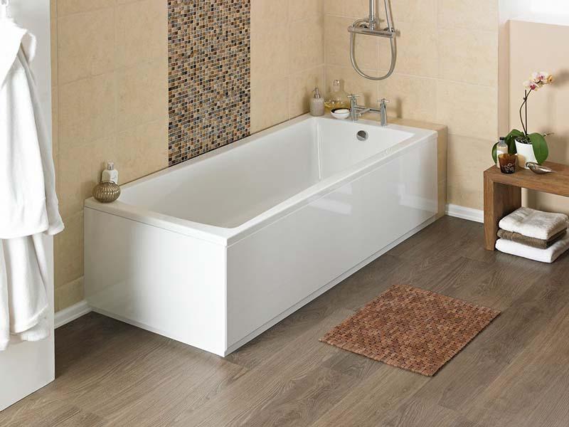 Фото: Влагостойкий линолеум в ванной и санузле