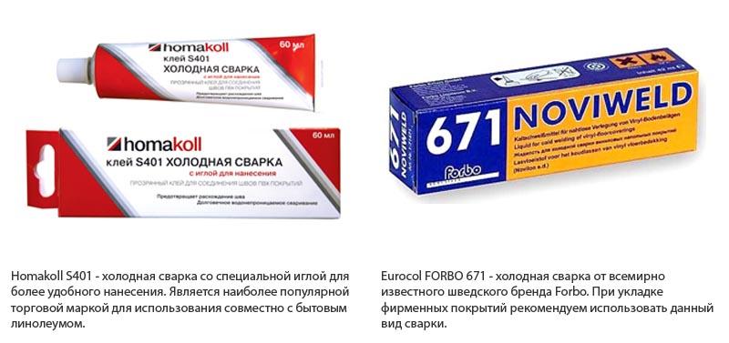 Фото: Смеси торговой марки Homakoll и Eurocol