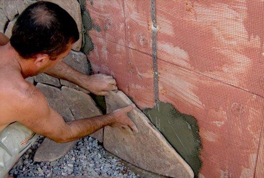 Фото: Монтаж натурального камня