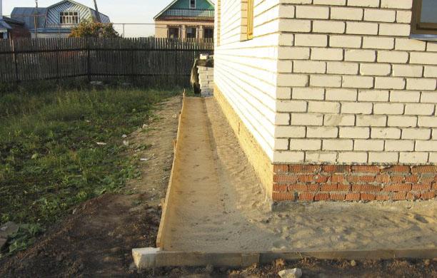 Фото: Подготовленное основание из песка