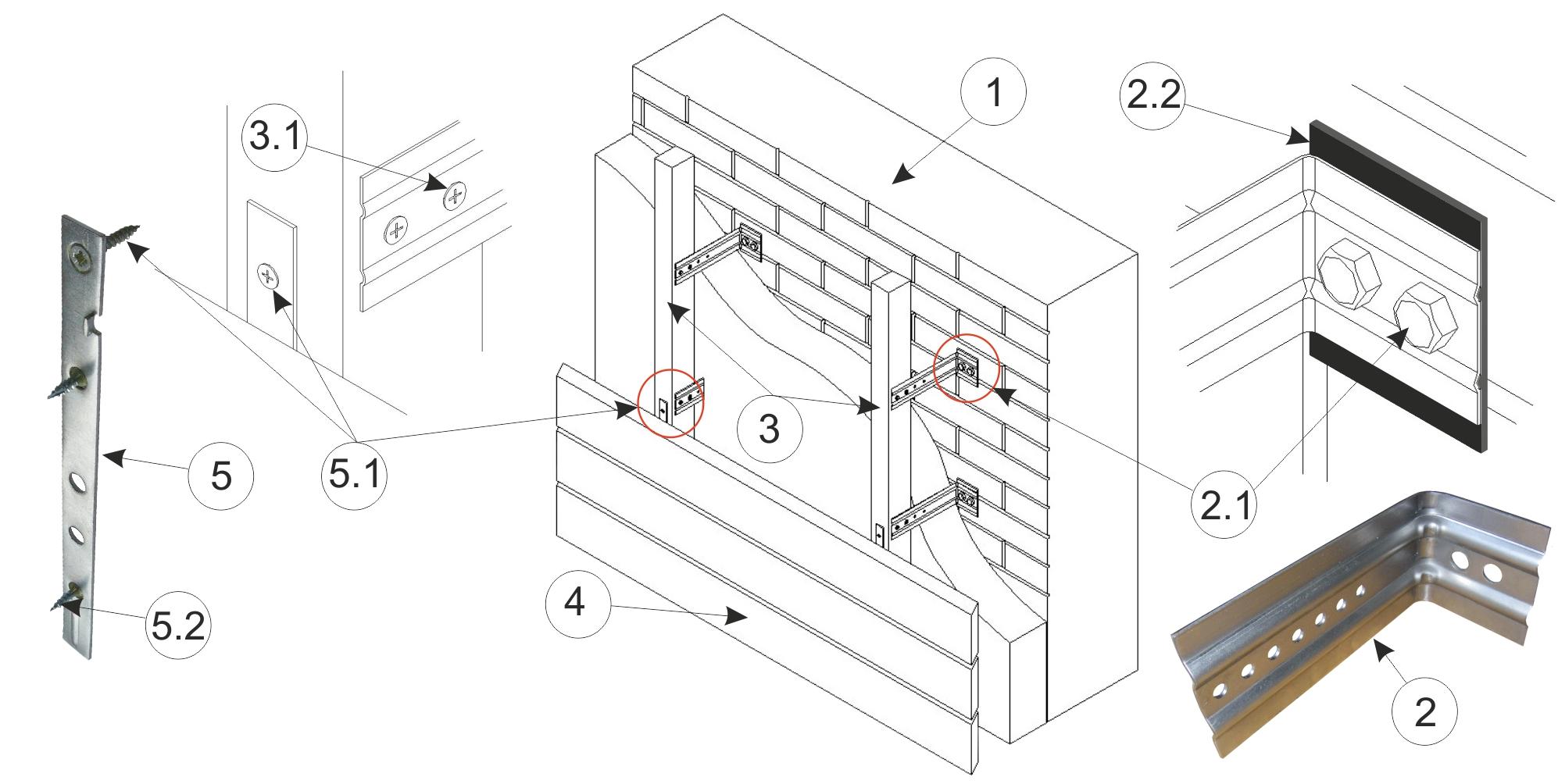 Схема кронштейна пленки