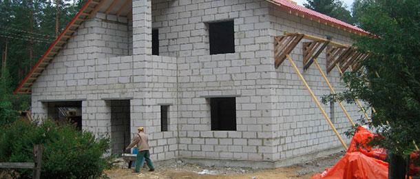 Фото: Дом полностью построенный из газобетонных блоков
