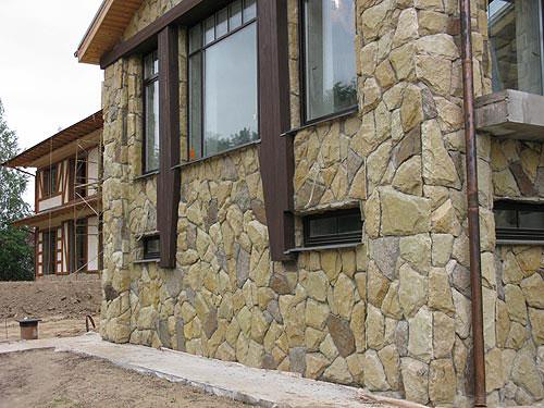 искусственный фасадный камень фото