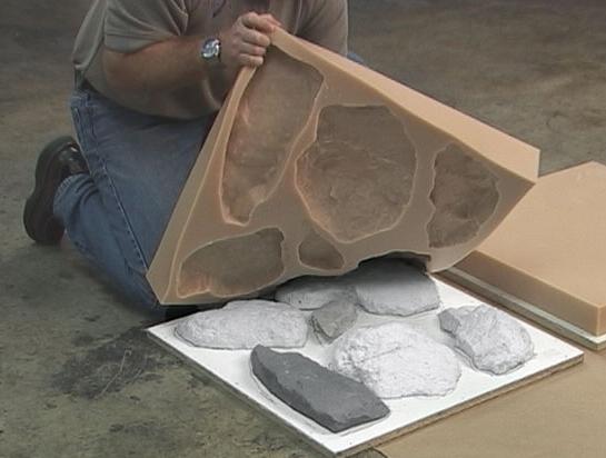 Фото: Силиконовая форма для изготовления каменных плит