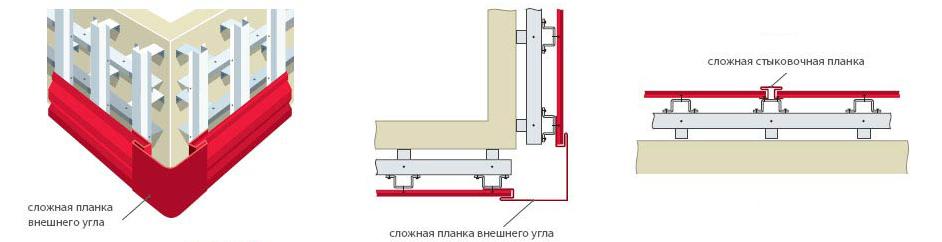 Фото: Установка и монтаж внешних углов и стыковочной планки
