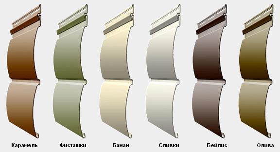 Фото: Наиболее популярные цвета сайдинга типа блок хаус
