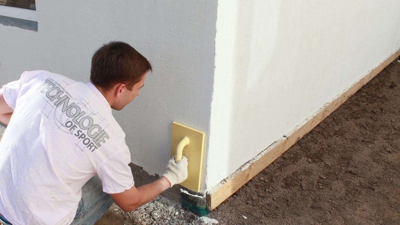 Фото: Выравнивание поверхности фасада и стен под отделку