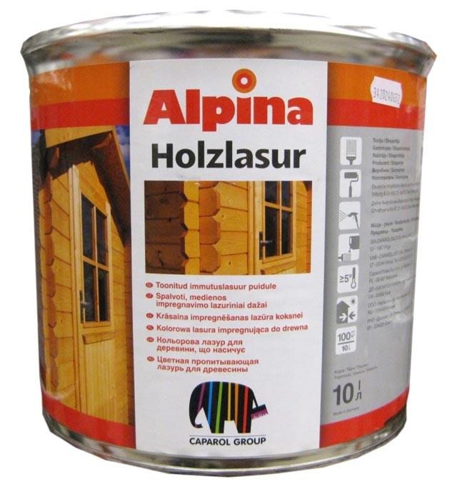 Фото: Пропитывающая лазурь торговой марки Alpina