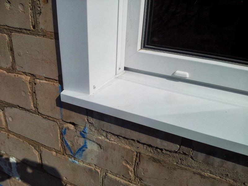 Фото: Отделка пластиковых окон снаружи