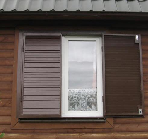 Фото: Металлические ставни на окна своими руками