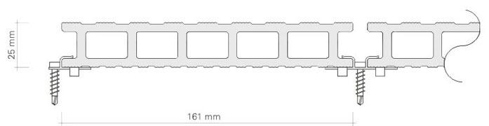 Фото: Схема скрытого способа с использованием металлического кляммера