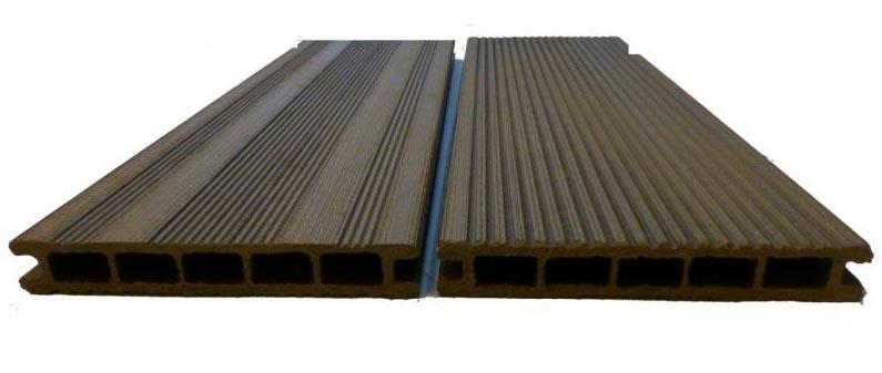 Фото: ДПК материал состоящий из древесины и композита